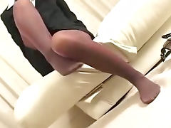Pantyhose Footjob 2 porn video