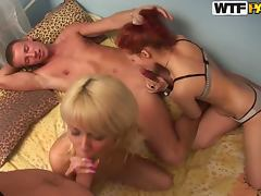 Hot MMFF POV Foursome with Blonde and Redhead Babes