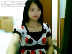 Asian Cutie Gets Naked Live on Webcam