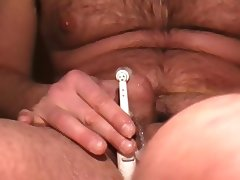 selfsuck cum with electrical toothbrush