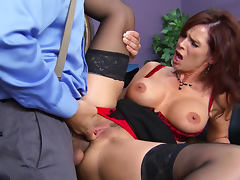 Syren De Mer milf office sex sizzles