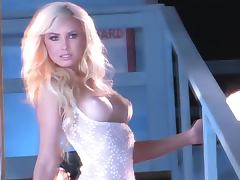 Gorgeous blond siren Tiffany Toth gives a hot show for all of us
