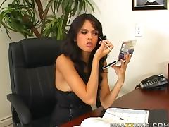 All, Blowjob, Brunette, Cum in Mouth, Desk, POV