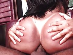 Round ass Latina shemale riding cock