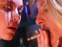 Smoking fetish chicks having fun