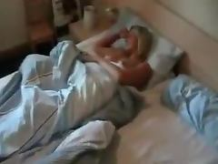 Sexy sleeping German GF gives POV blowjob and gets fingered