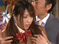 Uber Cute Japanese Girl Gets A Mouthful Of Jizz After Hardcore Sex