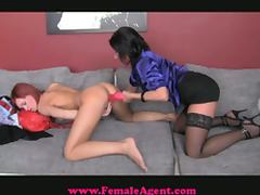 Redhead hottie lesbian porn interview