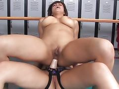 Horny girls in changing room porn video