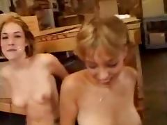 Hot group sex with two babes