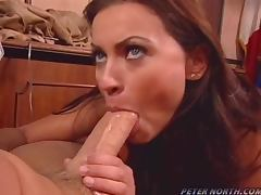 Sweet Nikita Denise gives great blowjob to Peter North