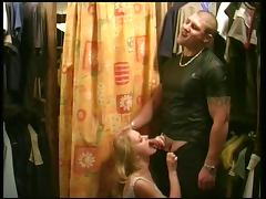 blond bitch get fucked by a strong guy un the local shop