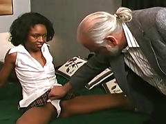 Cute hardcore bdsm with a stunning ebony