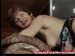 Real grandma fucked in every way porn video