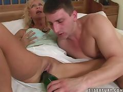 Mom and Boy, Blonde, Couple, Cum, Hardcore, Mom and Boy