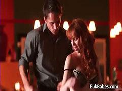 Horny redhead babe Marie McCray blows