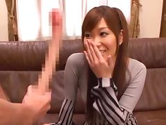 Beautiful Japanese Girl Sucks On A Long Ass Cock