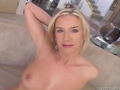 Taylor Lynn sucks a cock and gets fucked in missionary position