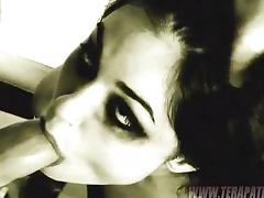 Sasha Grey Deepthroats and Gets Fucked in Black and Whitish Clip
