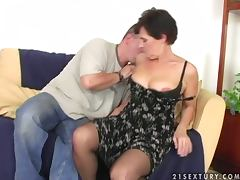 Dude Fucks Grandma and Cums On Her Bush porn video