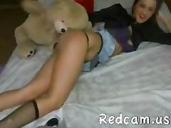 Hot brounet chick webcam