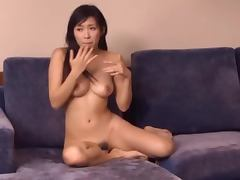 Nana Ogura fucks two dudes and eats their thick juice