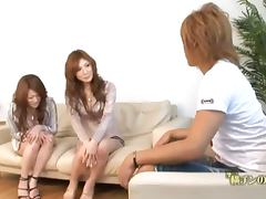 Horny Natsu and Seira are having a lesbian sex