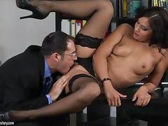 Lovely CEO Cipriana makes her lawyer protect her pussy