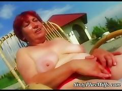Fat granny sucking fresh dick