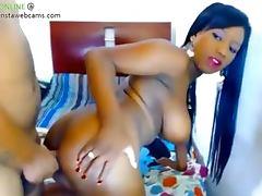 Sexy ebony babe fucked part 2
