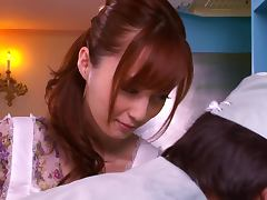 Gorgeous Housewife Kaede Fuyutsuki Fucks And Eats Cum