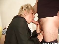 Big boobed busty blonde MILF slut part2