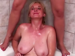 Two busty mils Chanel and Monika and rubber dick porn video