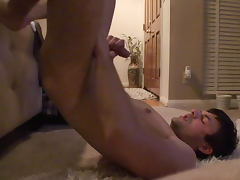 Tucker Scott is wanking his nasty dick