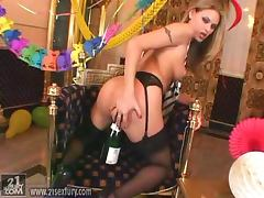 Horny birthday girl Victoria Swinger loves it hard