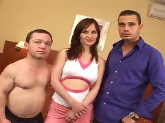 The Adventures Of Mario The Midget and the Brunette Slut Sandra Black porn video