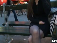 Amateur babe picked up for a fuck in france