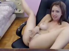 Sexy and Busty Webcam Girl Mastrubating