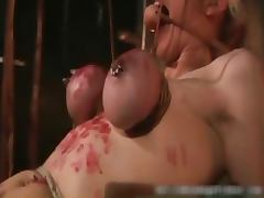 Hot blond MILF horny babe gets bondage part1