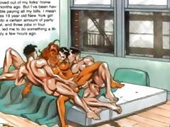 Tanned Huge Breast Horny Sex Comic bdsm bondage slave femdom domination