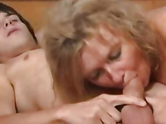 Blonde mature fucks young boy 00
