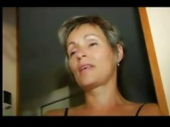 FRENCH MATURE n32 blonde anal mom in threesome