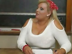 BBW Kirsten teacher Riding Dick