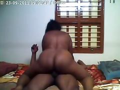 Homemade video with chubby Indian riding big dick