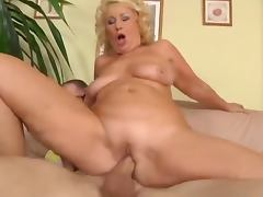 Mature woman fucks the plumber after he does the job