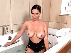 Bathroom, Babe, Bath, Bathroom, Boobs, Brunette