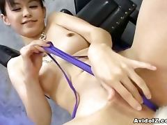 Japanese babe sucking 10 dicks uncensored