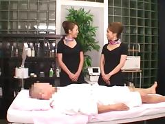 Massage Session Turns Into Threesome With Two Japanese MILFs