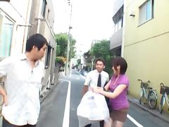 Public Blowjob On The Bus With Sexy Japanese Milf