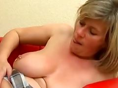 Busty mature Marina Montana gets her first fuck